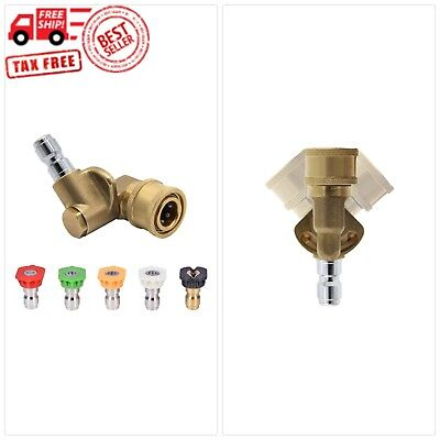 Twinkle Star Pressure Washer Spray Nozzle Tips and Quick Connecting Pivoting Cou