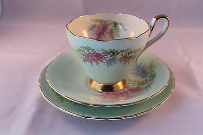 HUDSON & MIDDLETON SUTHERLAND TRIO CUP SAUCER PLATE 1947c BRITISH MADE RETRO