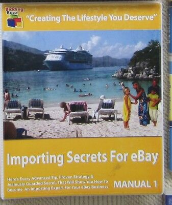 Importing Secrets for eBay 2 Manuals 3 DVD's Second Hand Pick Up QLD