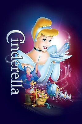 """""""CINDERELLA"""" 4 ..Classic Animated Movie Poster A1 A2 A3 A4Sizes"""