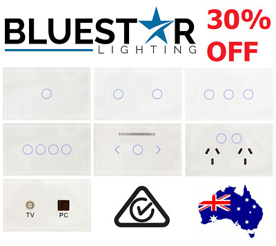 BLUESTAR Sapphire Touch Light Switch Power Point Socket Saturn GPO LED Dimmer