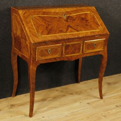 Bureau inlaid furniture French secrétaire desk dresser wood antique style 900