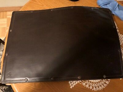 Saddleback Leather Large Desk Pad Blotter in Dark Coffee Brown - Preowned