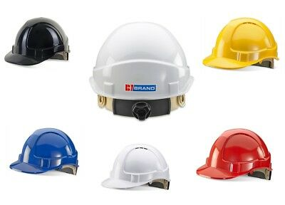 B Brand Vented Safety Helmet Hard Hat Ratchet Adjustment Sweatband 5 Colours