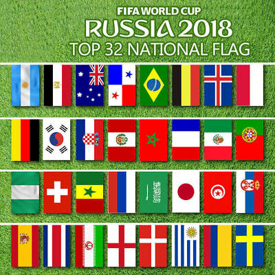 3x2/' All Country Team Nations Flags 2018 FIFA Football World Cup 32 Flag Set