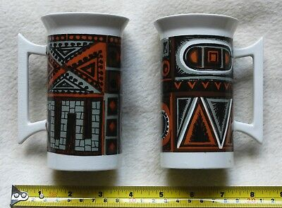 Portmeirion Variations Classic Designs X2 Mugs Good Used Condition 5420