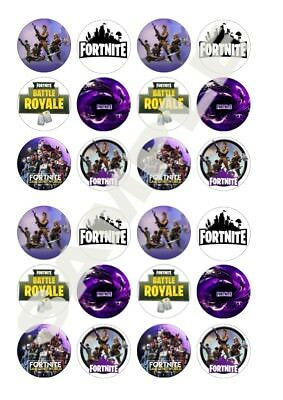 24 Fortnite D2 Wafer Paper Rice Paper Icing Cupcake