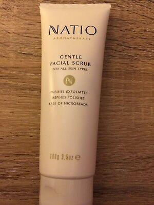 Natio Aromatherapy Gentle Facial Scrub New 100g Suits All Skin Types Reduced