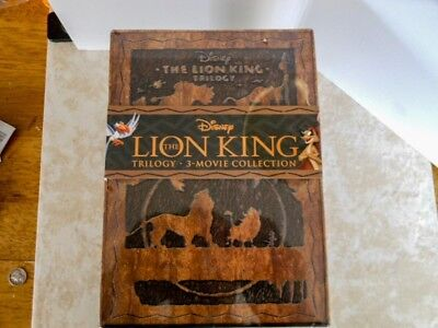 The Lion King Trilogy Collection [Blu-ray 3D + 2D + DVD Digital, 8-Disc] NEW