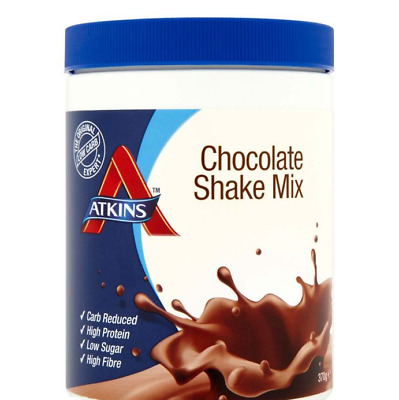 Atkins Chocolate Shake Mix (370g) (10 Servings) | Low Carb, High Protein
