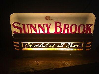 Sunny Brook Whiskey Lighted Sign Price Brothers Art Deco