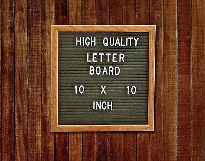 Felt Letter Board-10x10 inches Changeable 300 Letters Emojis Frame & Easel Stand