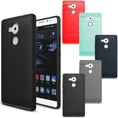 Shock Proof Carbon Fiber Brushed Phone Case Skin Cover For Huawei Honor 6X 5X