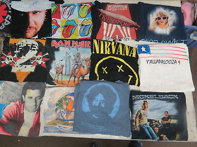 Lot Of 54 Concert T Shirts Vintage T Shirts Vintage Tees Rock Pop Country Metal