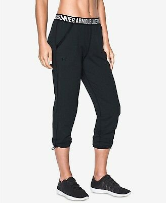 agreatvarietyofmodels special sales vivid and great in style UNDER ARMOUR WOMENS UpTown Knit StudioLux Cropped Joggers Black Size Small  - NWT