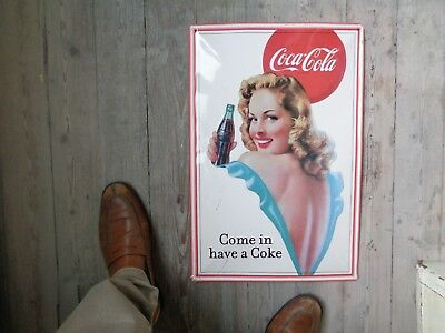 Coca cola reclame metaal beer sign not new come in have a coke