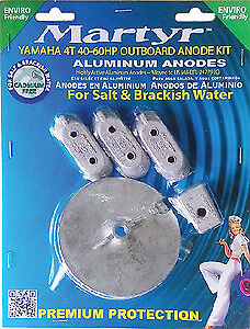 MARTYR ANODES Martyr Anode Kit For Yamaha 40-60 HP Outboards Aluminum CMY4060KI