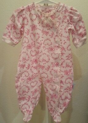 Baby Girl 3/6 Month Floral Sleeper By Vitamin Baby