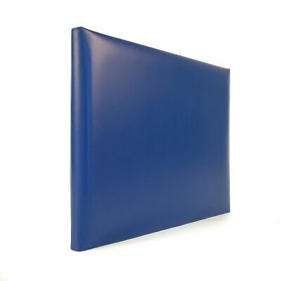 """Quality Genuine Leather Guest Book, 7x9"""", Blank Pages, Charing Cross"""