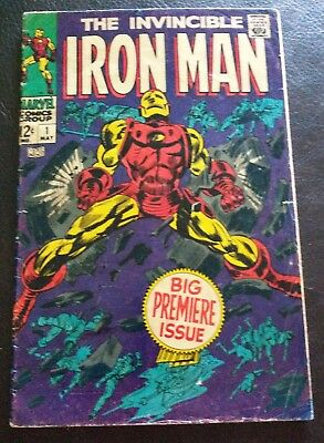 Iron Man #1 (1St Iron Man In His Own Title) Huge Mega Key Marvel Very Nice!