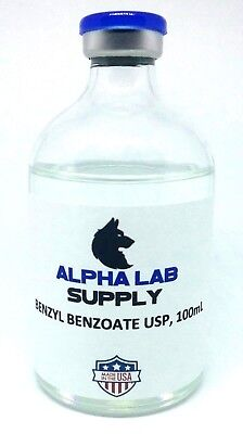100mL Benzyl Benzoate USP Qty: 2 - Free Shipping