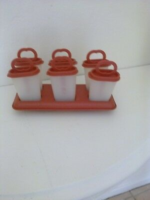 Tupperware lot of 6 Ice pop Popsicle makers