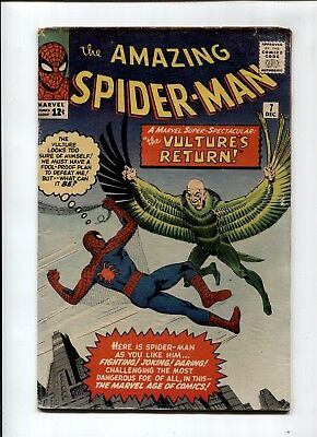 Amazing Spider-Man #7 Lee Ditko Marvel Comic KEY 2nd Vulture Early Spidey Silver