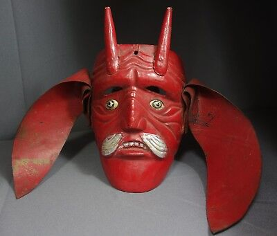 Handcarved Vintage Devil Dance Mask from Guatemala