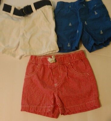 GYMBOREE AND CARTERS- Lot -Baby Boys shorts- SIZE  6 -12 & 12  Months SUMMER