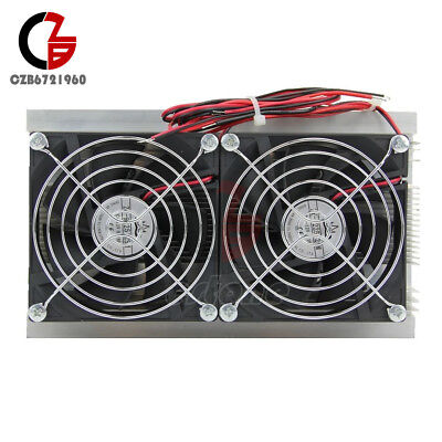 120W Cooler Double Fan Thermoelectric Peltier Refrigeration Cooling System Kits