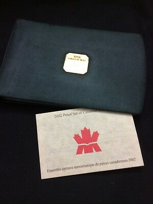2002 Royal Canadian Mint Sterling Silver Proof Coin Set W/COA