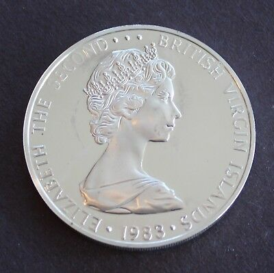 British Virgin Islands Rare 1983 Brilliant Proof Silver $1  KM# 6a