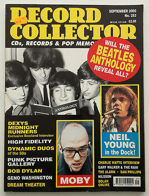 Record Collector #253 Beatles-Neil Young-Dexys-Punk Pic Gallery-Moby-Dylan