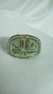 RARE ANCIENT EGYPTIAN ANTIQUE Scarab Stone 1300-1150 BC