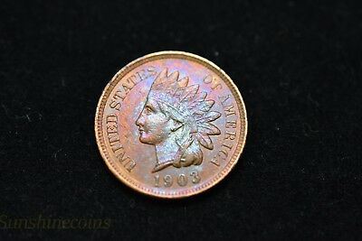 1903 Indian Head Cent Penny Sharp Details