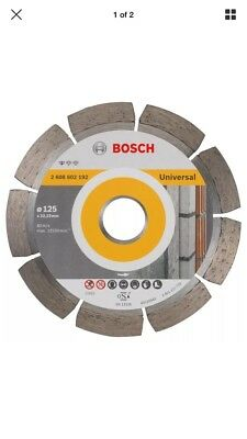 Bosch Angle Grinder Diamond Cutting Disc Blade Standard for Universal 125 mm New