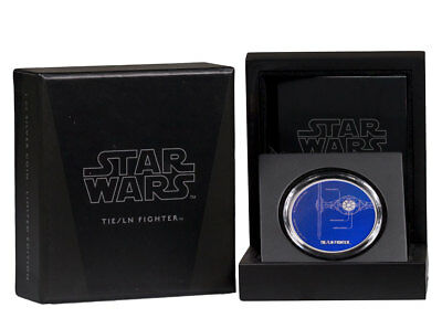 2017 Niue Star Wars Ships TIE/LN Fighter 1 oz Silver Colorized Proof $2 SKU48467