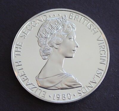 British Virgin Islands 1980 Brilliant Proof Silver $1  KM# 6a