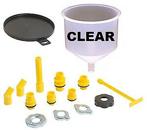 Lisle Corporation 24680 Clear Spill Free Funnel Kit