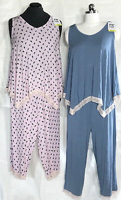 Maternity Rosie Pope Pajama Sleep Set Tank & Capris Floral or Blue S, M, L $58