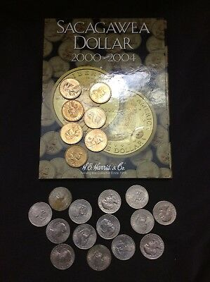 Mixed Lot Of Sacagawea $1 Coins & Susan B Anthony $1 Coins, $25 Face