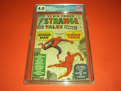 Strange Tales Annual 2 CGC 4.0 OW/W pages from 1963! not CBCS Marvel Silver Age