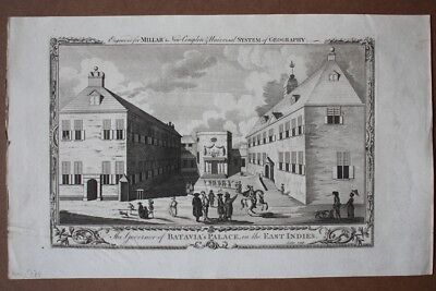 The Governor of Batavia´s Palace in the East Indies, original Kupferstich um 177