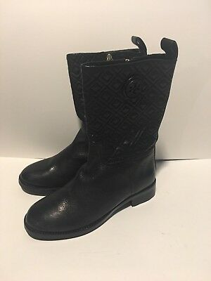 88831010ca4f New Tory Burch Women s MARION Black Quilted Boogie Boots Sz 8 - Mid Calf  LEATHER