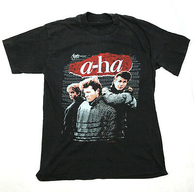 A-Ha 1986 Vintage Band Hunting High & Low Tour Concert T-Shirt Sz Small New Wave