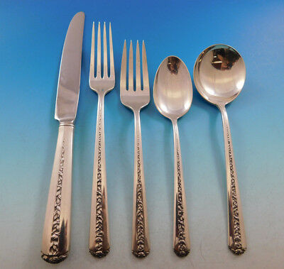 Rambler Rose by Towle Sterling Silver Flatware Set for 6 Service 34 pcs
