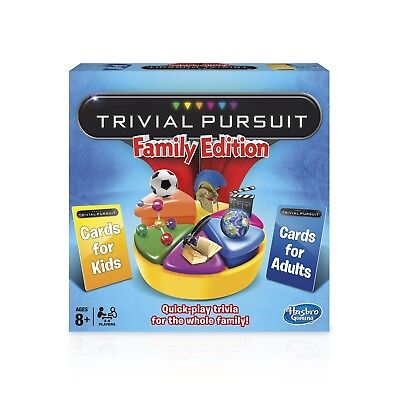 BRAND NEW TRIVIAL PURSUIT FAMILY EDITION Hasbro RRP £33 FREE P&P