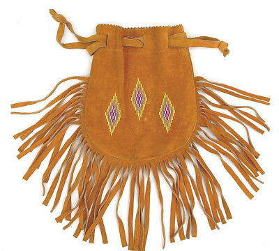 Vintage Native American Indian Plains Sioux Beaded Bag Pouch