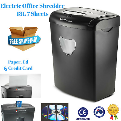 Electric Paper shredder Home Office Cross Cut CD DVD Credit Card 18L 7 Sheets A4
