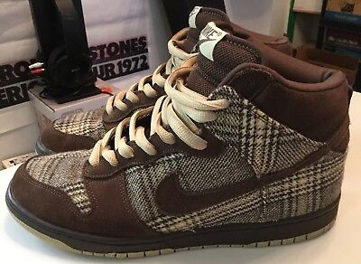 sports shoes f2152 c66c7 ... ireland 2004 nike dunk high pro sb tweed baroque brown mens size 10.5  authentic rare 6e175